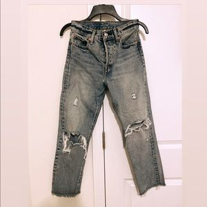 Levi's high-waisted wedgie fit jeans